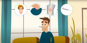 Vídeo gráfico para explicar el virus del Epstein-Barr (EBV)